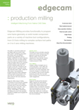 Edgecam Production Milling